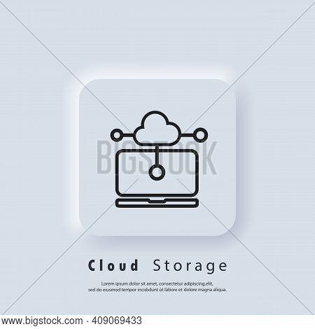 Cloud Storage Icon. Data Protection Cloud Storage. Online Storage Sign. Cloud Computing, Cloud Backu