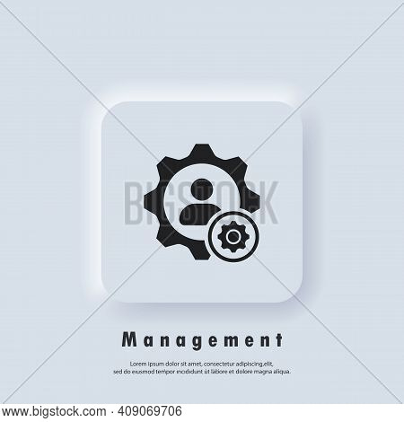 Management Icon. Teamwork Management Icon. Partnership Icon. Business Team. Company Leader, Supervis