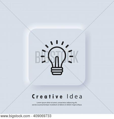 Light Bulb Icon. Creative Idea Icon. Solution Symbol, Lamp Icons, Idea. Symbol Of Creativity, Creati