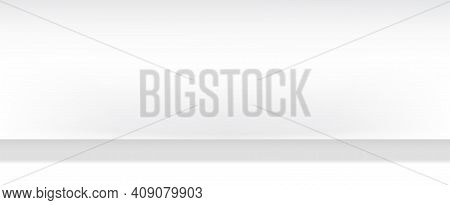 Empty Modern White Gray Studio Background For Copy Space Display Product Of Present Content Advertis