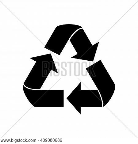 Recycle Symbol - Vector Illustration, Recycle Black Color Image, Flat Style, Recycle Web Icon, Recyc