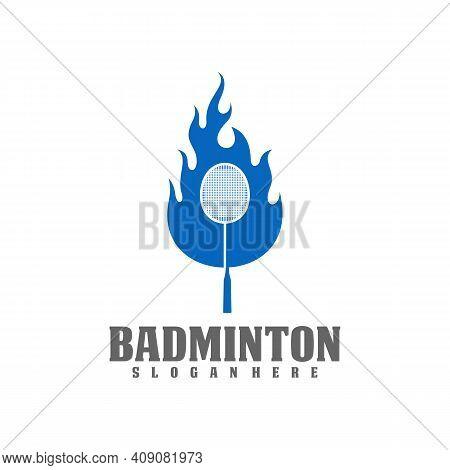 Professional Badminton Sports Team Championship Logo, Creative Badminton Design Concepts Template, I