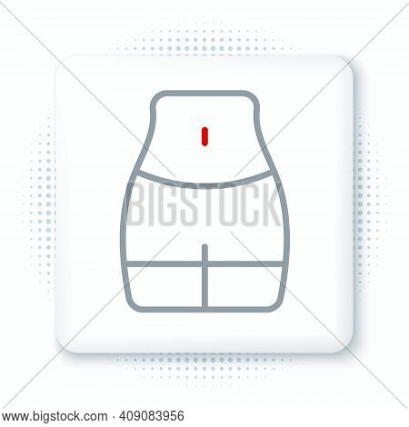 Line Women Waist Icon Isolated On White Background. Colorful Outline Concept. Vector