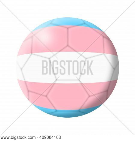Transgender Soccer Ball Football 3d Illustration Isolated On White With Clipping Path