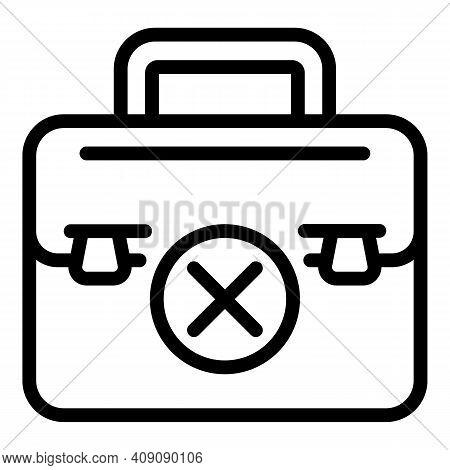Broken Briefcase Icon. Outline Broken Briefcase Vector Icon For Web Design Isolated On White Backgro
