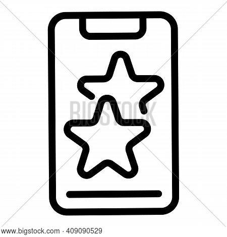 Smartphone Favorite Dislike Icon. Outline Smartphone Favorite Dislike Vector Icon For Web Design Iso