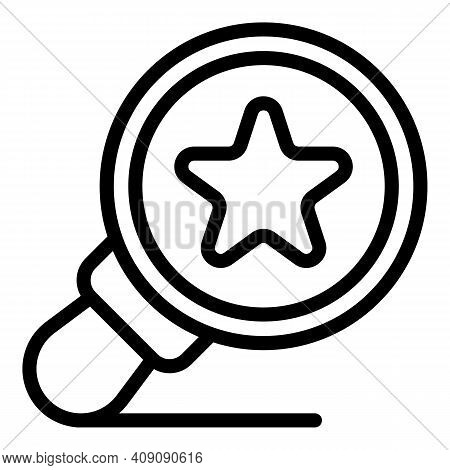 Favorite Magnifier Icon. Outline Favorite Magnifier Vector Icon For Web Design Isolated On White Bac