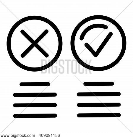 Circle Like And Dislike Icon. Outline Circle Like And Dislike Vector Icon For Web Design Isolated On