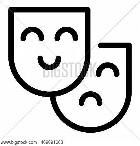 Human Senses Icon. Outline Human Senses Vector Icon For Web Design Isolated On White Background