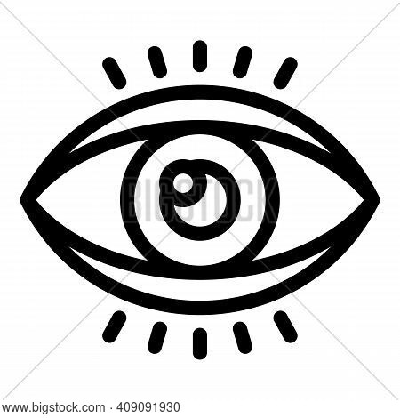 Eye Perception Icon. Outline Eye Perception Vector Icon For Web Design Isolated On White Background