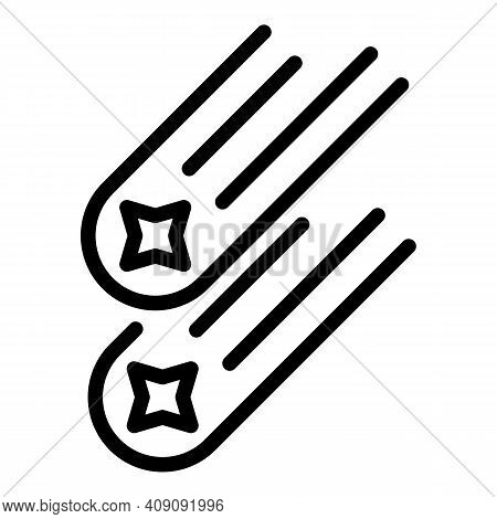 Asteroid Icon. Outline Asteroid Vector Icon For Web Design Isolated On White Background