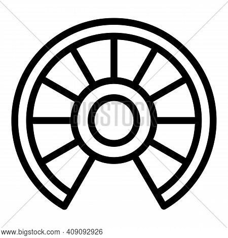 Wood Circular Staircase Icon. Outline Wood Circular Staircase Vector Icon For Web Design Isolated On