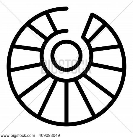 Interior Spiral Staircase Icon. Outline Interior Spiral Staircase Vector Icon For Web Design Isolate