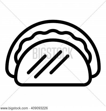 Taco Meal Icon. Outline Taco Meal Vector Icon For Web Design Isolated On White Background