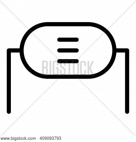 Electrical Resistor Icon. Outline Electrical Resistor Vector Icon For Web Design Isolated On White B