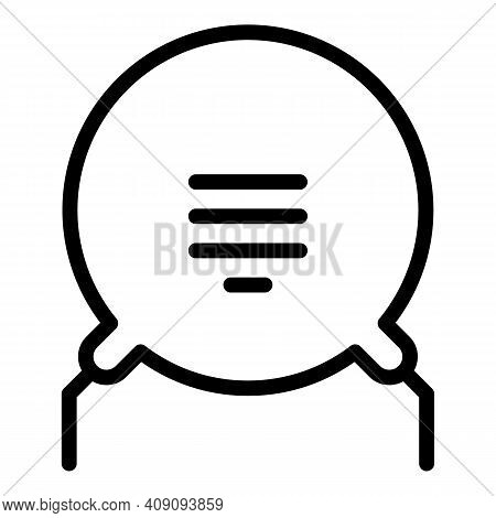 Voltage Resistor Icon. Outline Voltage Resistor Vector Icon For Web Design Isolated On White Backgro