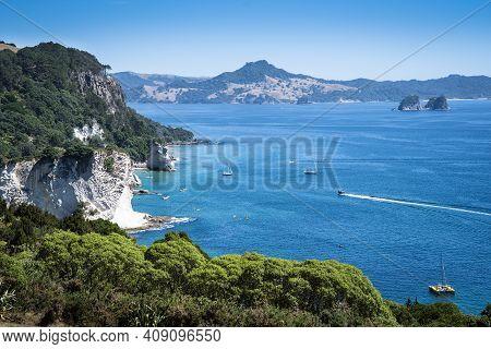 Outdoor, Shore, Coromandel Peninsula, Coastal, Bay, Beach, Beautiful, Blue, Cathedral, Cathedral Cov