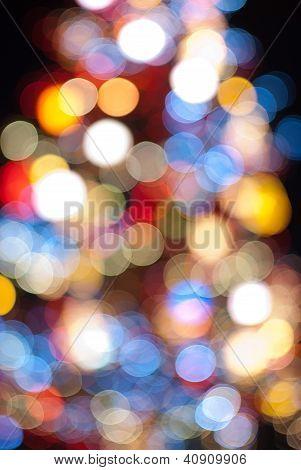 luces de Navidad de la noche