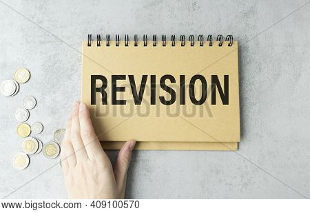 Black Pancel Write A Text Revision On The Gray Background