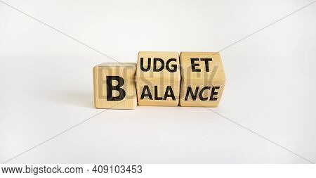 Budget Or Balance Symbol. Turned Wooden Cubes And Changed The Word 'balance' To 'budget'. Beautiful
