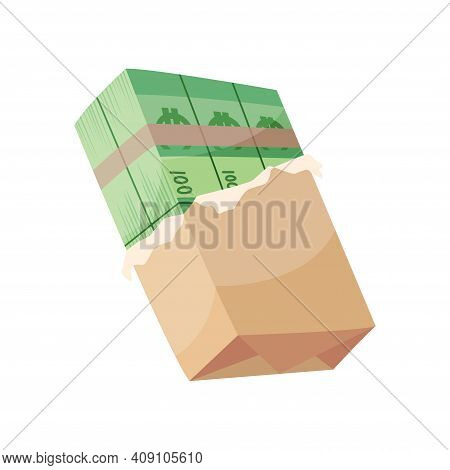 European Currency Note Euro Banknotes. Money Vector Illustration. Investment Capital Wealth Savings