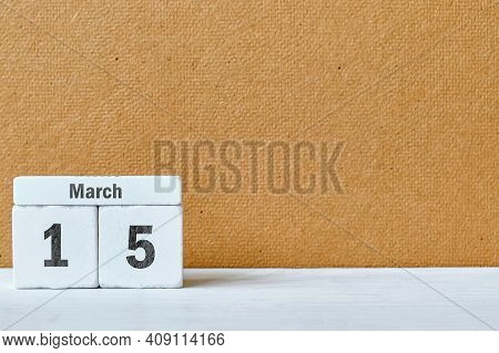 15 Fifteenth Day Of Spring Month Calendar March With Copy Space