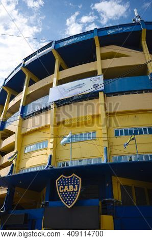 Buenos Aires, Argentina - January, 2020: La Bombonera Arena Is Home Stadium Of Boca Juniors Football