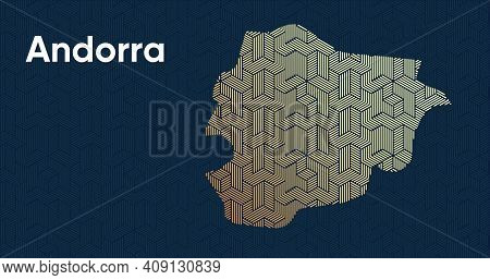 Card With A Stylized Oriental Overlapping Pattern And A Transform Effect. Oriental Gold Pattern With