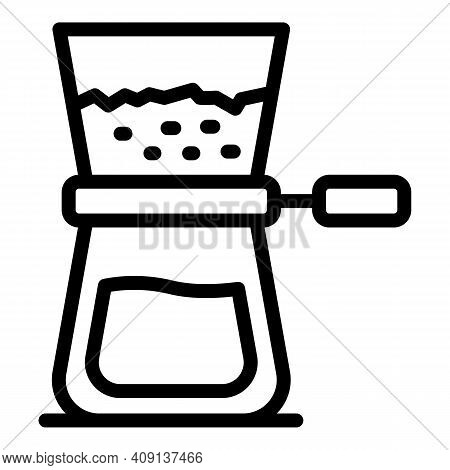 Coffee Maker Icon. Outline Coffee Maker Vector Icon For Web Design Isolated On White Background