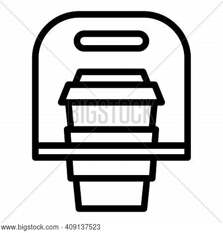 Coffee Take Away Icon. Outline Coffee Take Away Vector Icon For Web Design Isolated On White Backgro
