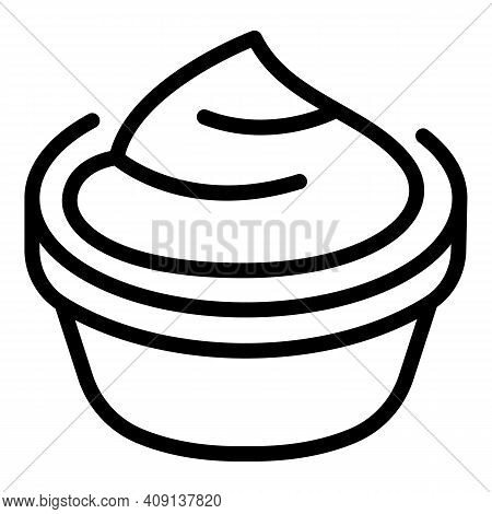 Delicious Mashed Potatoes Icon. Outline Delicious Mashed Potatoes Vector Icon For Web Design Isolate