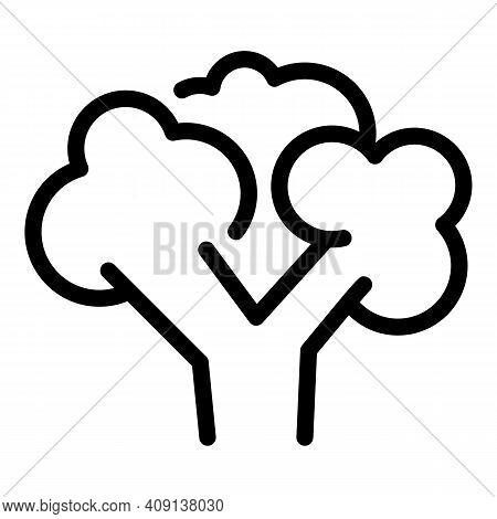 Broccoli Food Icon. Outline Broccoli Food Vector Icon For Web Design Isolated On White Background