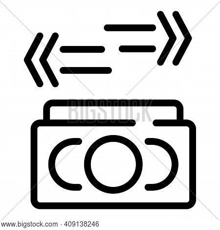 Currency Forecast Icon. Outline Currency Forecast Vector Icon For Web Design Isolated On White Backg