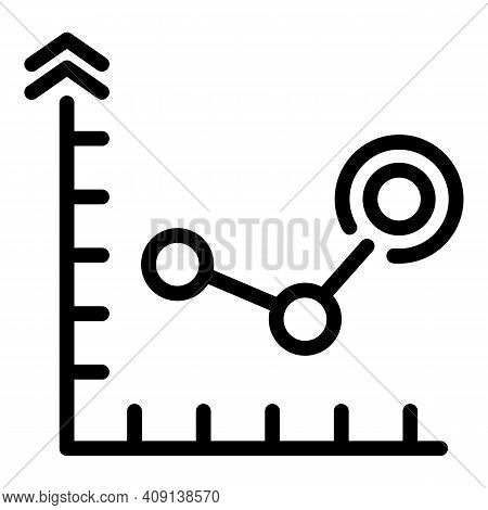 Market Forecast Chart Icon. Outline Market Forecast Chart Vector Icon For Web Design Isolated On Whi