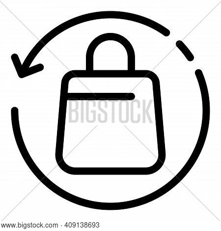 Refresh Shopping Icon. Outline Refresh Shopping Vector Icon For Web Design Isolated On White Backgro