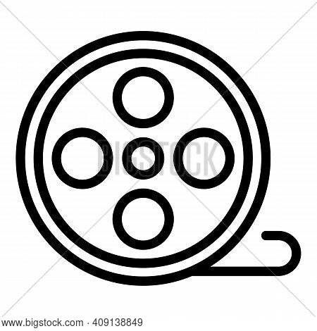 Project Reel Icon. Outline Project Reel Vector Icon For Web Design Isolated On White Background