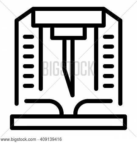 Paper Production Industry Icon. Outline Paper Production Industry Vector Icon For Web Design Isolate