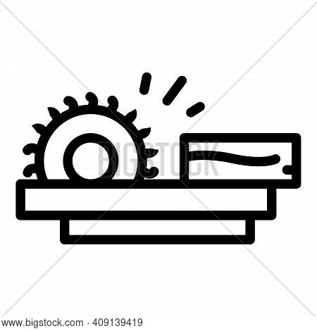 Paper Production Wood Icon. Outline Paper Production Wood Vector Icon For Web Design Isolated On Whi