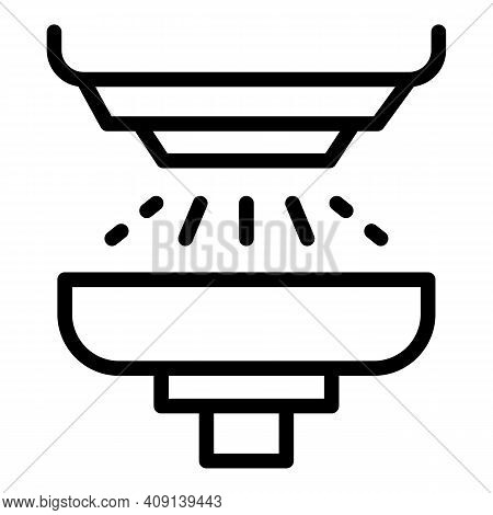 Paper Mill Icon. Outline Paper Mill Vector Icon For Web Design Isolated On White Background