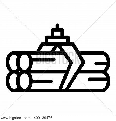 Wood Material Paper Icon. Outline Wood Material Paper Vector Icon For Web Design Isolated On White B