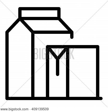 Paper Packaging Icon. Outline Paper Packaging Vector Icon For Web Design Isolated On White Backgroun