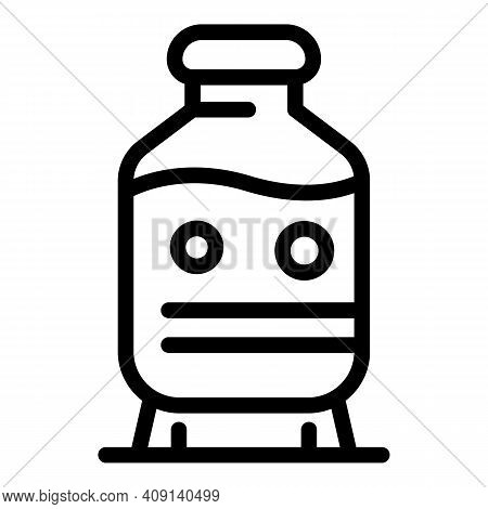 Dairy Product Bottle Icon. Outline Dairy Product Bottle Vector Icon For Web Design Isolated On White