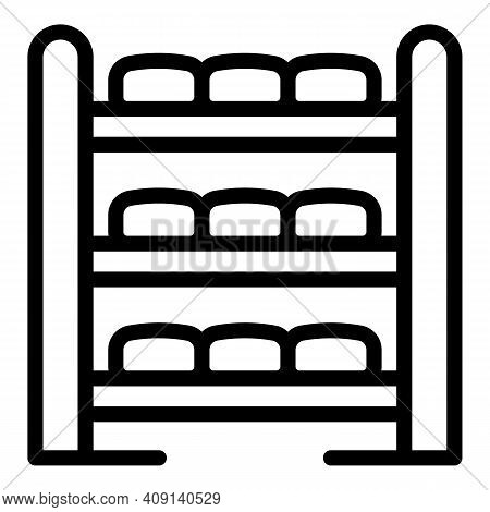 Ripening Cheese Icon. Outline Ripening Cheese Vector Icon For Web Design Isolated On White Backgroun