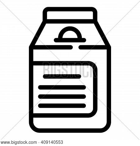 Pack Dairy Product Icon. Outline Pack Dairy Product Vector Icon For Web Design Isolated On White Bac
