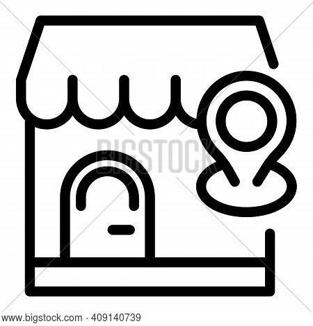 Marketing Placement Icon. Outline Marketing Placement Vector Icon For Web Design Isolated On White B
