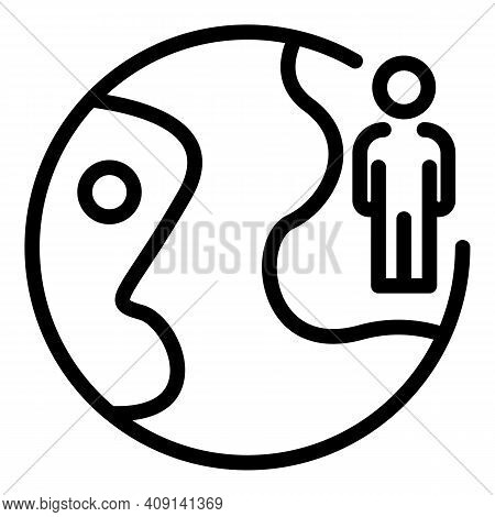 Global Market Consumer Icon. Outline Global Market Consumer Vector Icon For Web Design Isolated On W