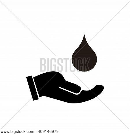 Hands Holding Water Icon Vector. Hands Holding Water Icon Isolated On White Background. Hands Holdin