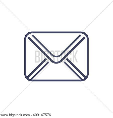 Unread Message Flat Icon On White Background Vector Illustration