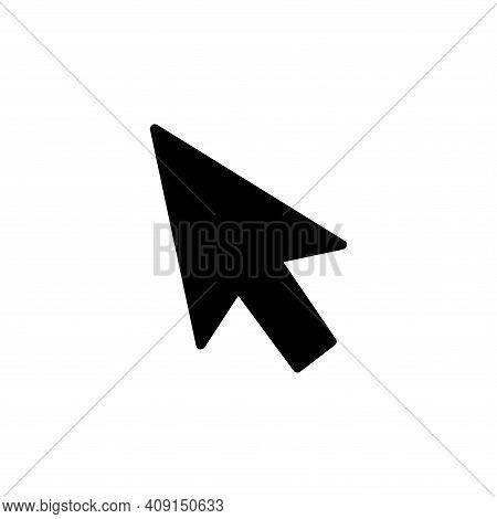 Cursor Icon Vector. Cursor Icon Vector Isolated On White Background. Cursor Icon Vector Simple And M