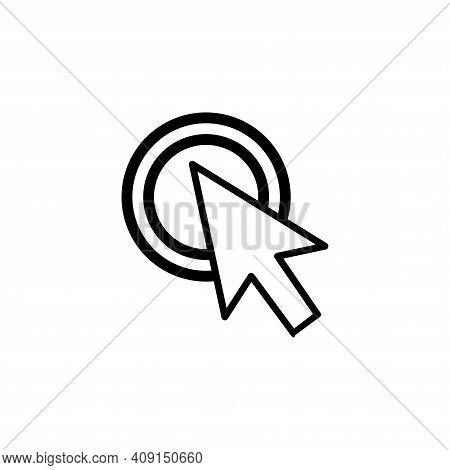 Cursor Icon Vector. Cursor Icon Vector Isolated On White Background.